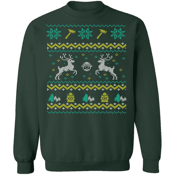 Firefighter Ugly Christmas Sweater CustomCat