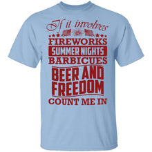 Fireworks Beer And Freedom T-Shirt