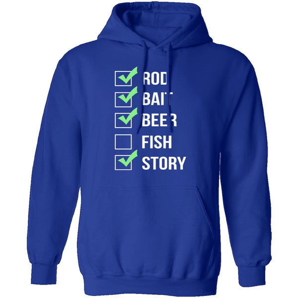 Fishing Checklist T-Shirt CustomCat