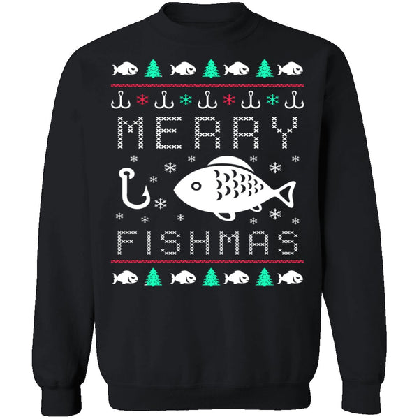 Fishmas Ugly Christmas Sweater CustomCat