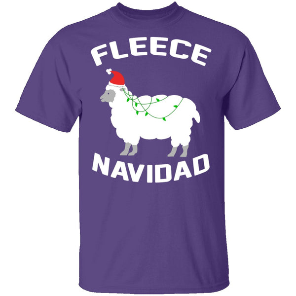 Fleece Navidad T-Shirt CustomCat