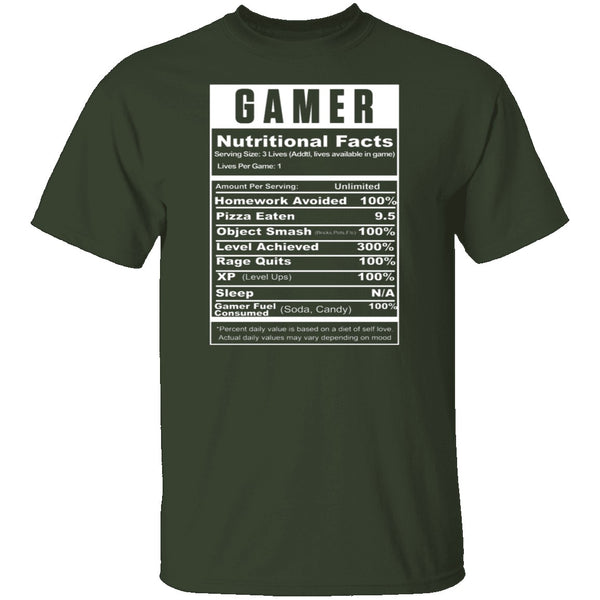 Gamer Facts T-Shirt CustomCat