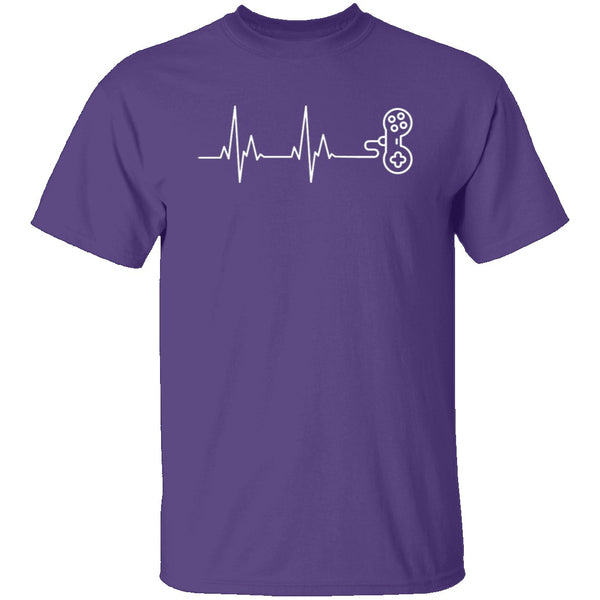 Gamer Heartbeat T-Shirt CustomCat