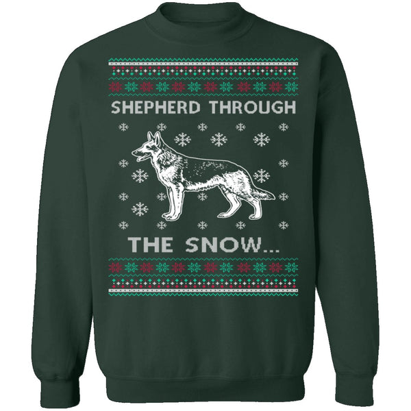 German Shepherd Ugly Christmas Sweater CustomCat