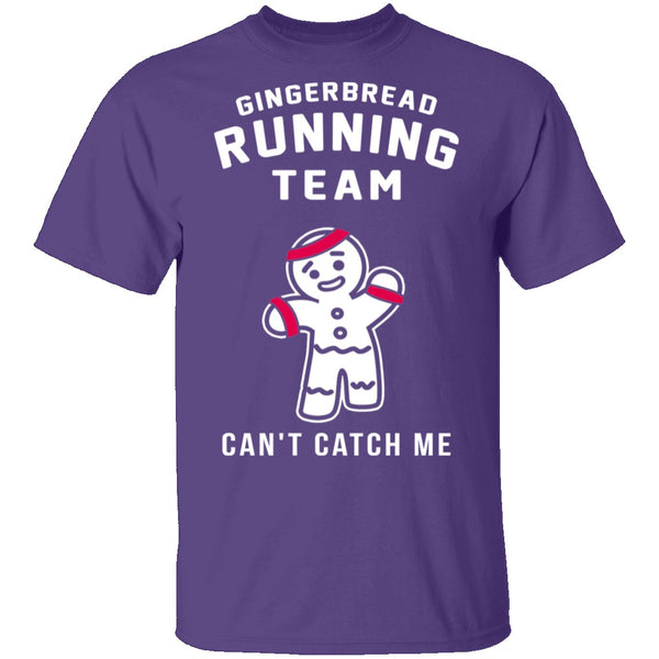 Gingerbread Running Team T-Shirt CustomCat