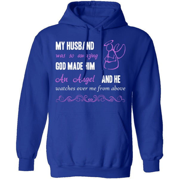 God Made My Husband an Angel T-Shirt CustomCat