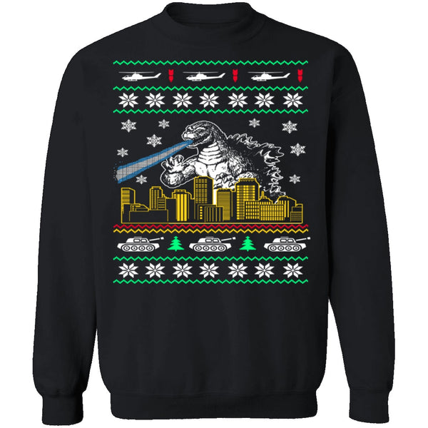 Godzilla Ugly Christmas Sweater CustomCat