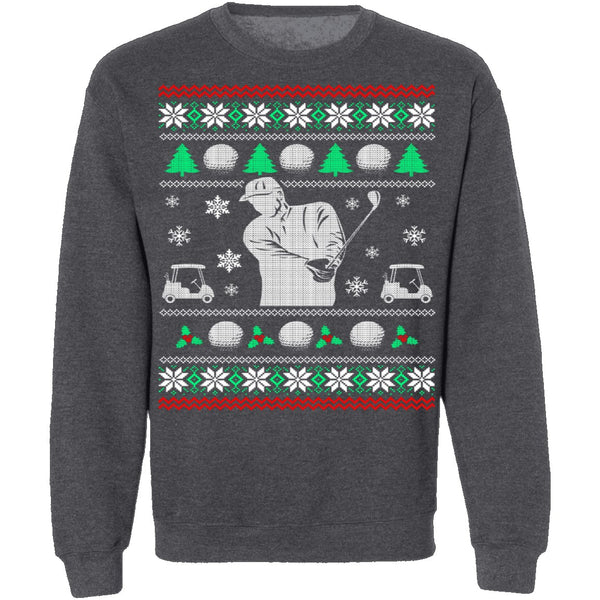 Golf Ugly Christmas Sweater CustomCat