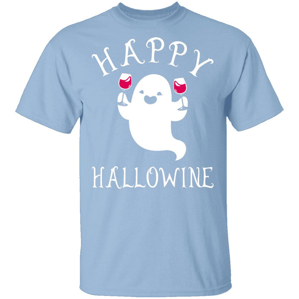 Happy Hallowine T-Shirt CustomCat