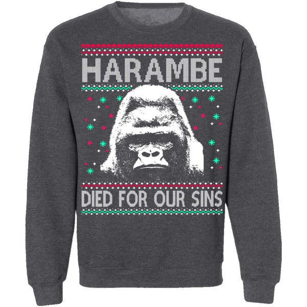 Harambe Ugly Christmas Sweater CustomCat