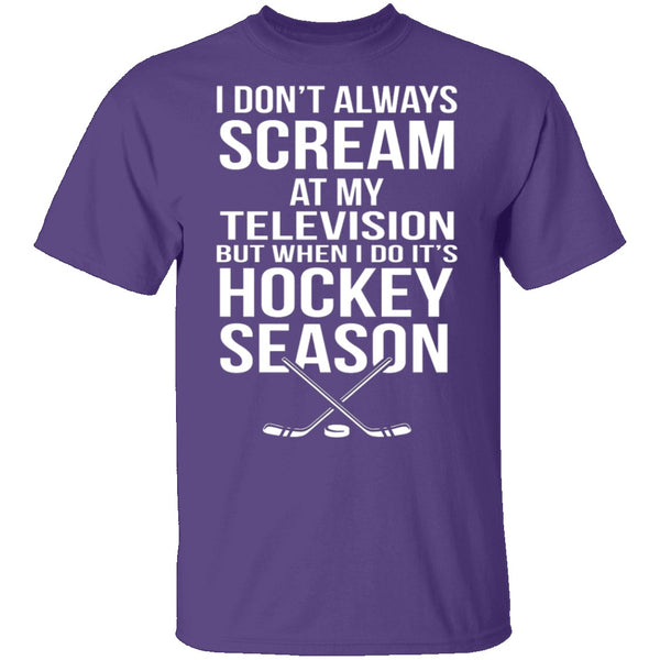 Hockey Season T-Shirt CustomCat