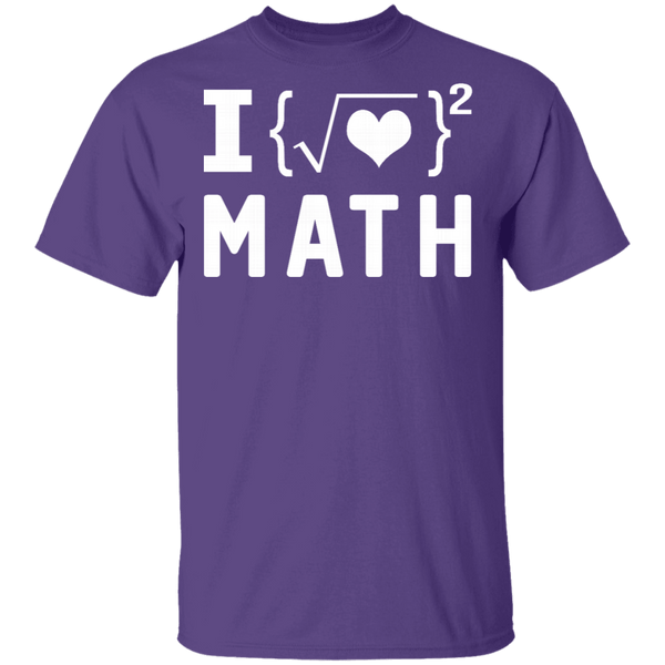 I Love Math T-Shirt CustomCat