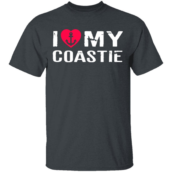 I Love My Coastie T-Shirt CustomCat