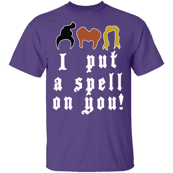 I Put A Spell On You T-Shirt CustomCat