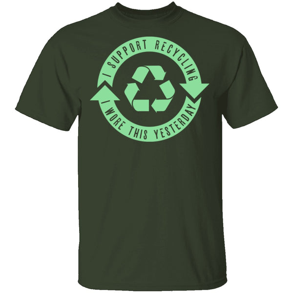 I Support Recycling T-Shirt CustomCat