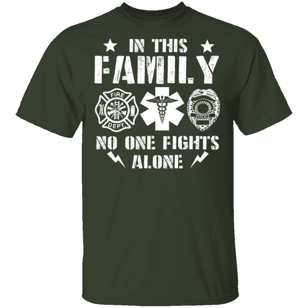 In This Family No One Fights Alone T-Shirt CustomCat