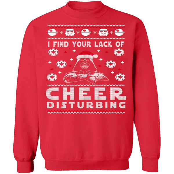 Lack Of Cheer Ugly Christmas Sweater CustomCat