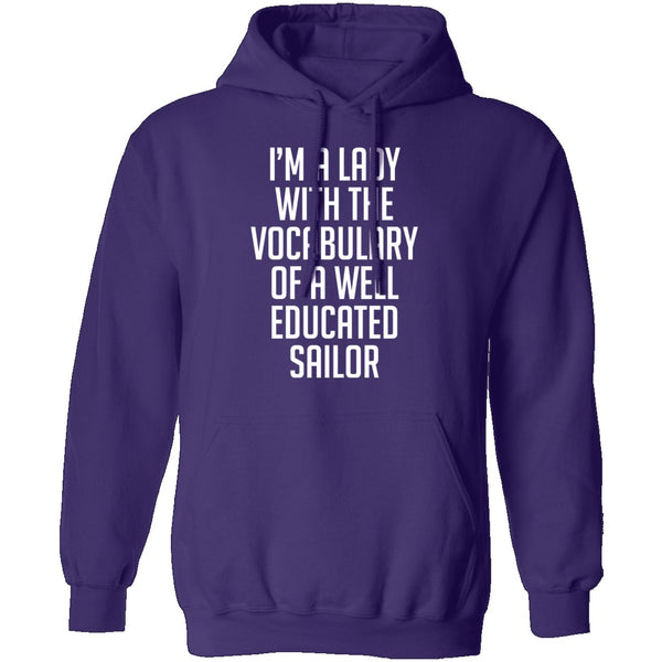 Lady With Vocabulary Of A Well Educated Sailor T-Shirt CustomCat