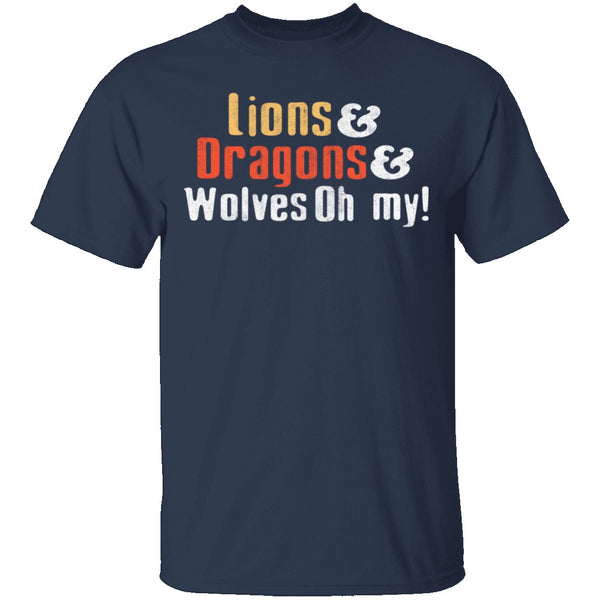 Lions Dragons Wolves T-Shirt CustomCat