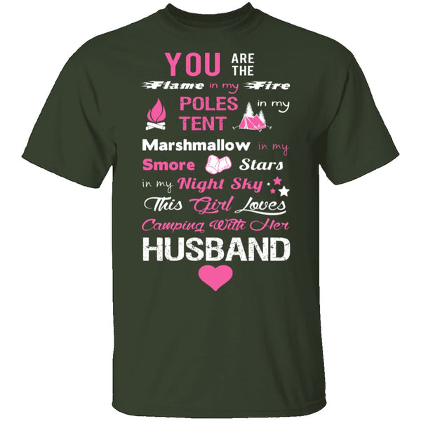 Love Husband and Camping T-Shirt CustomCat