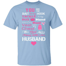 Love Husband and Fishing T-Shirt