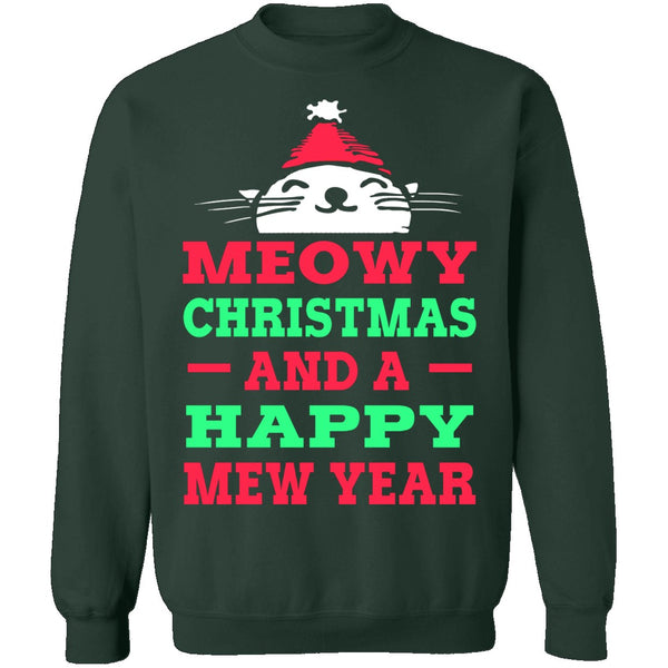 Meowy Christmas And Mew Year T-Shirt CustomCat