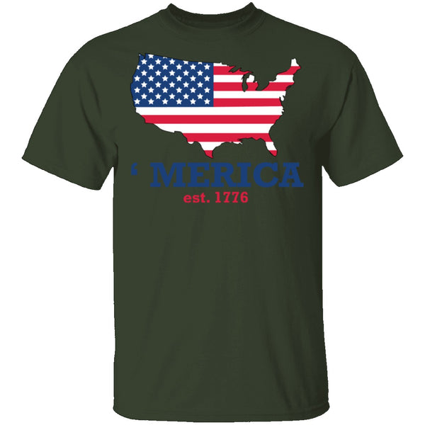 Merica Est 1776 T-Shirt CustomCat