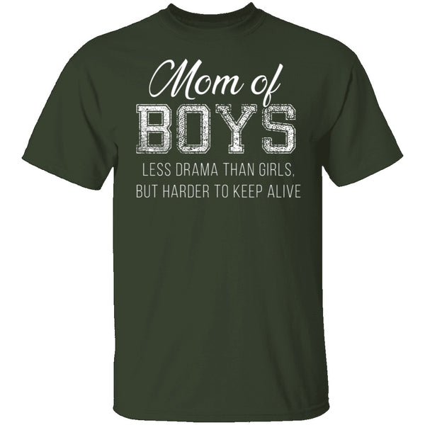 Mom of Boys T-Shirt CustomCat