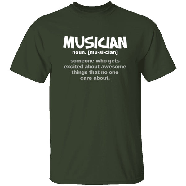 Musician Definition T-Shirt CustomCat