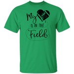 My Heart Is On That Football Field T-Shirt CustomCat