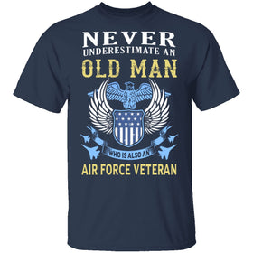Old Man Veteran Air Force T-Shirt