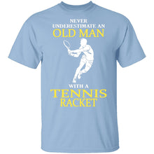 Old Man With A Tennis Racket T-Shirt