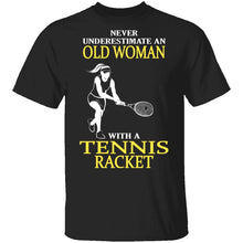 Old Woman With A Tennis Racket T-Shirt