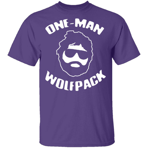 One Man Wolfpack T-Shirt CustomCat