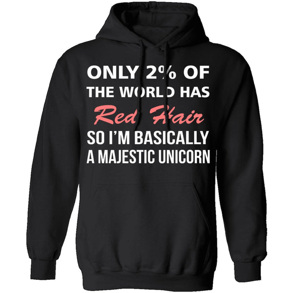 Only 2% of the World Has Red Hair T-Shirt CustomCat
