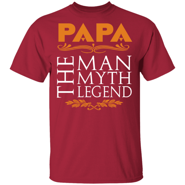 Papa The Man The Myth The Legend T-Shirt CustomCat