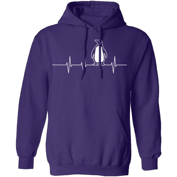 Penguin Heartbeat T-Shirt CustomCat