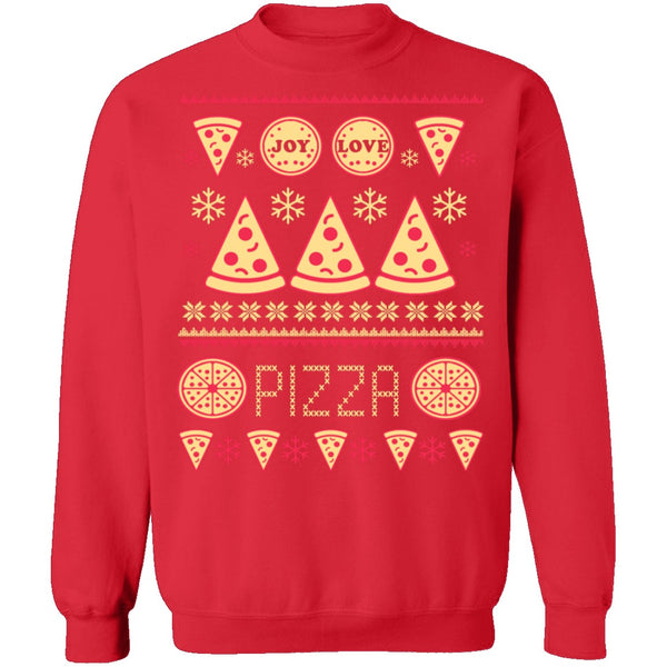 Pizza Ugly Christmas Sweater CustomCat