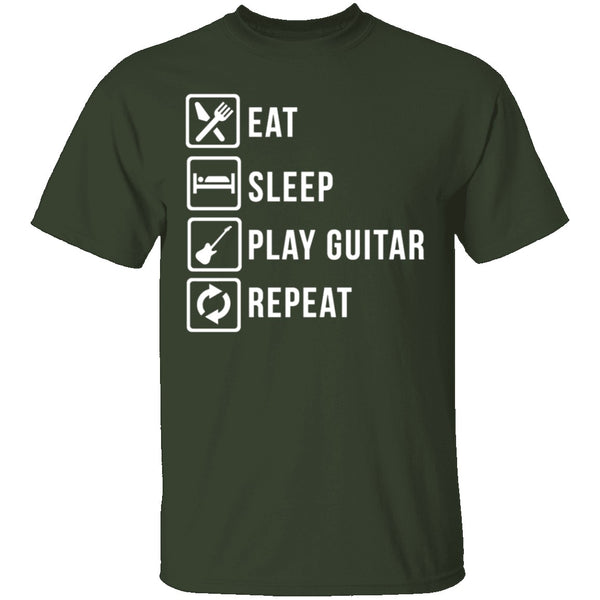 Play Guitar Repeat T-Shirt CustomCat