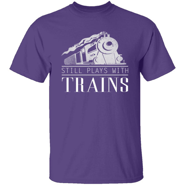 Play With Trains T-Shirt CustomCat