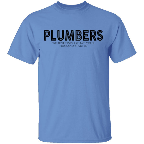Plumbers T-Shirt CustomCat