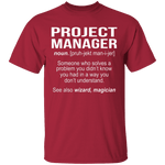 Project Manager Definition T-Shirt CustomCat