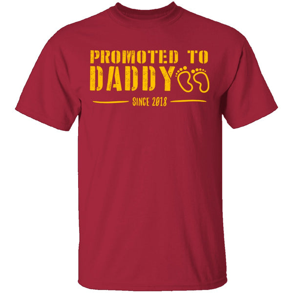 Promoted to Daddy T-Shirt CustomCat