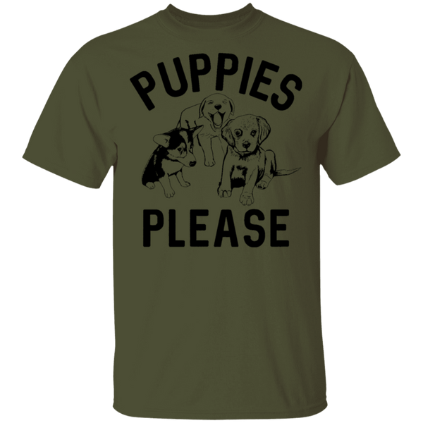 Puppies Please T-Shirt CustomCat