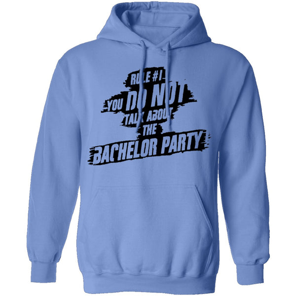 Rule #1 You Do Not Talk About Bachelor Party T-Shirt CustomCat