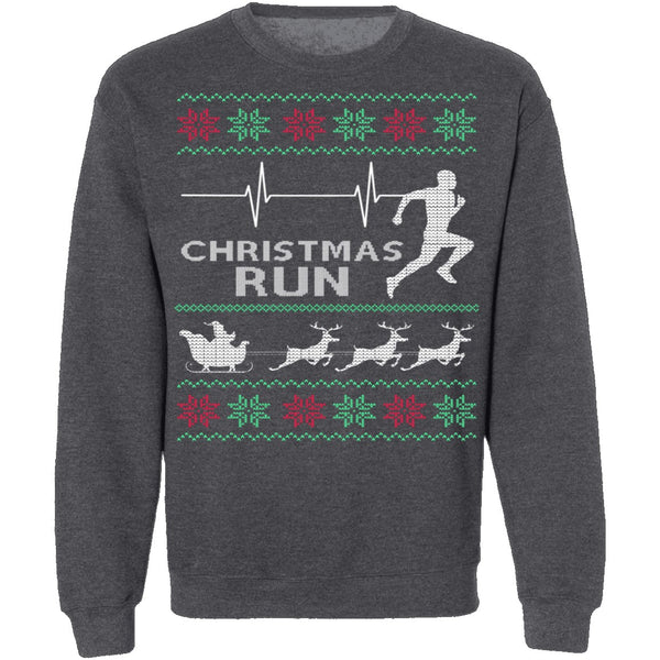 Running Ugly Christmas Sweater CustomCat