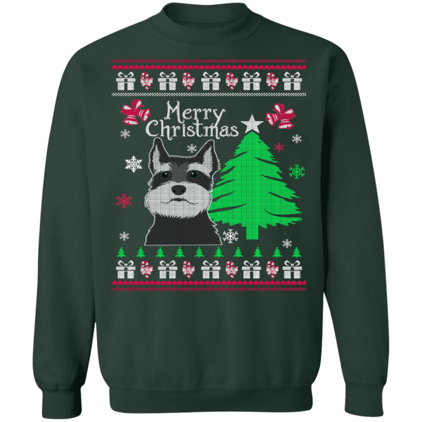 Schnauzer Ugly Christmas Sweater CustomCat