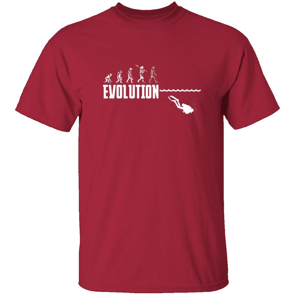 Scuba Evolution T-Shirt CustomCat