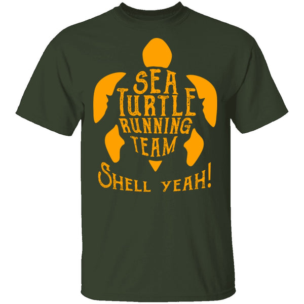 Sea Turtle Running Team T-Shirt CustomCat