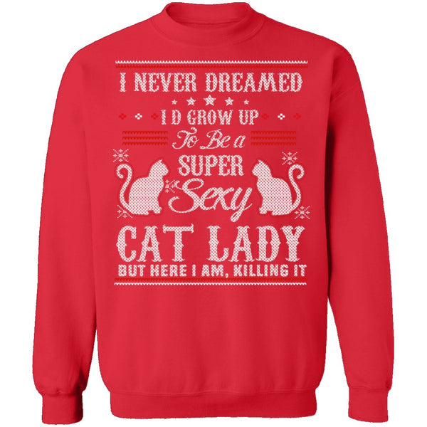 Sexy Cat Lady Ugly Christmas Sweater CustomCat